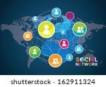 social network vector  | Shutterstock .eps vector #162911324