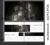 brochure template design. ... | Shutterstock .eps vector #162913928