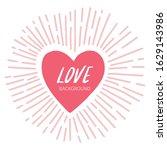 cute object valentine... | Shutterstock .eps vector #1629143986