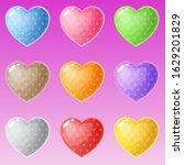 cute shape hearts many colors...