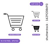 cart icons set vector...
