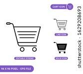 cart icons set vector...