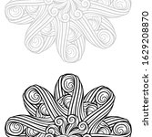 vector abstract black and white ... | Shutterstock .eps vector #1629208870