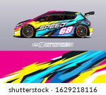 car wrap decal graphic design....   Shutterstock .eps vector #1629218116