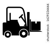 forklift icon design. forklift... | Shutterstock .eps vector #1629226666