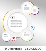 business infographics circle... | Shutterstock .eps vector #162923300