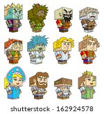 heroes of fairy tales. cubic... | Shutterstock .eps vector #162924578