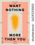 want nothing illustration... | Shutterstock . vector #1629253003