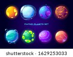 fantasy space planets for ui... | Shutterstock .eps vector #1629253033