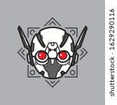 illustration of robot head with ...   Shutterstock .eps vector #1629290116