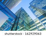 windows of skyscraper business... | Shutterstock . vector #162929063