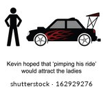 kevin pimped his ride cartoon...