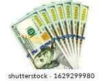 a fan of seven hundred dollar... | Shutterstock . vector #1629299980