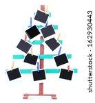 wooden hand made fir tree with... | Shutterstock . vector #162930443