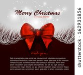 merry christmas background... | Shutterstock .eps vector #162931856