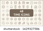 set of 48 time and clock icons...