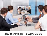 businesspeople sitting in a...   Shutterstock . vector #162932888