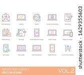 marketing agency icons...