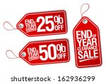 end of year sale savings labels ... | Shutterstock .eps vector #162936299