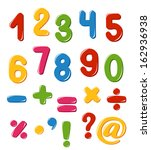 set of numbers and punctuation... | Shutterstock . vector #162936938