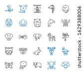 wildlife icons set. collection... | Shutterstock .eps vector #1629388006
