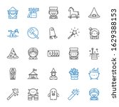 trick icons set. collection of... | Shutterstock .eps vector #1629388153