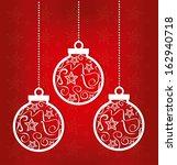 christmas design over red... | Shutterstock .eps vector #162940718