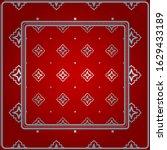 design for square fashion print.... | Shutterstock . vector #1629433189
