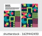 retro swiss graphic modernism ...   Shutterstock .eps vector #1629442450