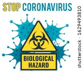 2019 ncov virus strain with... | Shutterstock .eps vector #1629493810