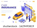 car insurance isometric concept ...   Shutterstock .eps vector #1629493819