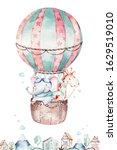 Watercolor Balloon Set Baby...