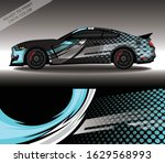 car wrap decal design vector ...   Shutterstock .eps vector #1629568993