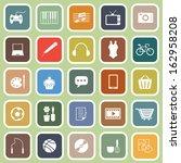 hobby flat icons on green... | Shutterstock .eps vector #162958208