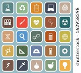 science flat icons on blue... | Shutterstock .eps vector #162958298