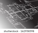 architecture plan guide... | Shutterstock . vector #162958598