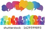 speech bubble. multiethnic... | Shutterstock .eps vector #1629599893