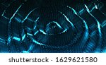 blue wavy surface of glowing...   Shutterstock .eps vector #1629621580
