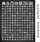 200 sticker icons | Shutterstock .eps vector #162962570