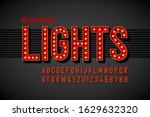 broadway lights retro style... | Shutterstock .eps vector #1629632320