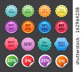 set of vector labels. | Shutterstock .eps vector #162964238