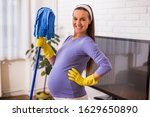 Beautiful Pregnant Woman Enjoys ...