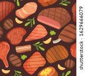 beef meat steaks  grill menu...   Shutterstock .eps vector #1629666079