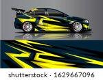 car decal design vector kit.... | Shutterstock .eps vector #1629667096