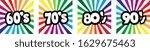 sixties  seventies  eighties...   Shutterstock .eps vector #1629675463