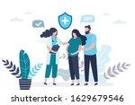 prenatal medicine. cute... | Shutterstock .eps vector #1629679546