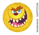 funny cartoon monster face.... | Shutterstock . vector #1629721156