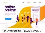 online review concept. landing...