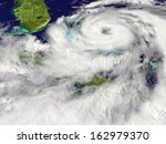 huge hurricane approaching... | Shutterstock . vector #162979370