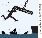 partnership concept in help and ... | Shutterstock .eps vector #162983234